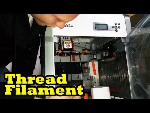 Threading Filament Davinci 1.0 3D Printer - First Time