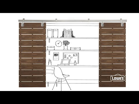 DIY Slatted Sliding Door Plans