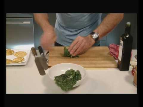 Cold Smoked Salmon Potato Blini and Red Pesto