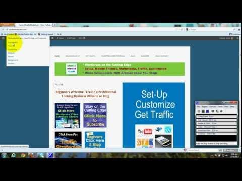Static Homepage - Add Blog - Custom Menu - Wordpress Theme Twenty Twelve