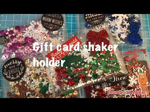 Diy Gift Card Shaker Holder