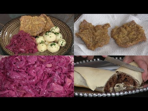 European Recipes: Apple Strudel, Wiener Schnitzel & Red Cabbage