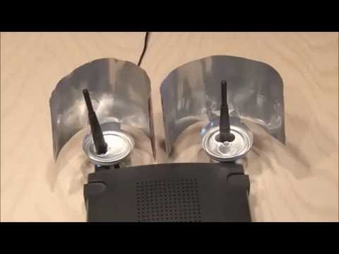 Triple wifi booster with beer can