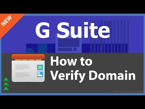 How to Verify Your Domain Google G Suite