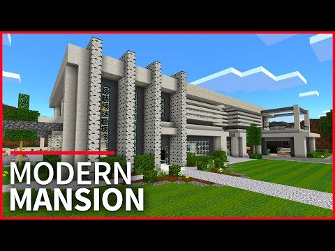 Minecraft PE Maps - MODERN HOUSE Full of Design Ideas // MCPE 1.2 Modern Mansion Map