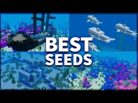 Minecraft 1.4: BEST UNDERWATER SEEDS! CORAL REEFS, ICEBERGS & SHIPWRECKs! - MCPE 1.4 / 1.4.2