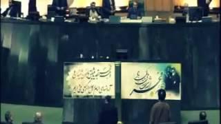 فیلم لحظه خروج احمدی نژاد وبگو مگو با لاریجانی
