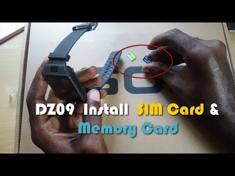 Easily Install A SIM Card And Memory Card On The DZ09 Smartwatch