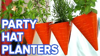 Hanging Party Hat Planters