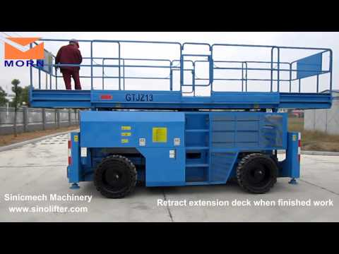 Video/ How to operate  rough terrain scissor lift  from MORN® LIFT
