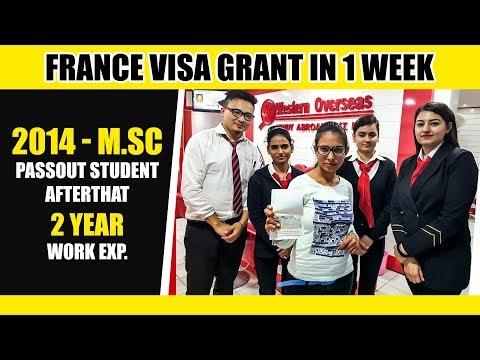 France Visa - 2014 M.SC Passout Student
