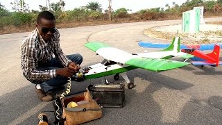 Eye Witness Report: Gifted Nigerian Invents Flying Mini-Aircrafts