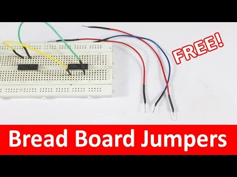 How To Make Bread Board Jumper Wires? Male To Male Jumpers For Bread Board Tutorial