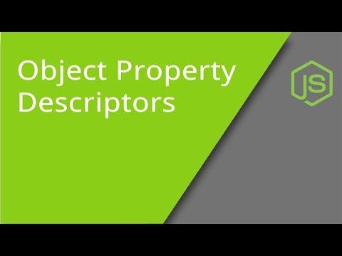 JavaScript Object Property Descriptors