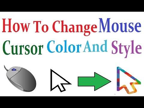 How To Change Mouse Cursor Color And Style माउस के कर्सर और डिज़ाइन को कैसे बदलते हैं