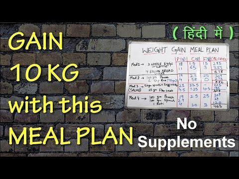 जल्दी वजन बढ़ने के लिए डाइट प्लान   Fast Weight Gain Meal Plan(Men/Women)   Indian Foods