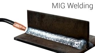 Mig Welding  - Basic T-joint Weld With A Small 115 Volt Welder