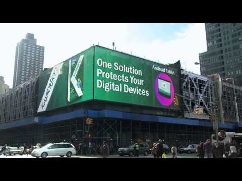 Kaspersky ONE Universal Security debuts in Times Square
