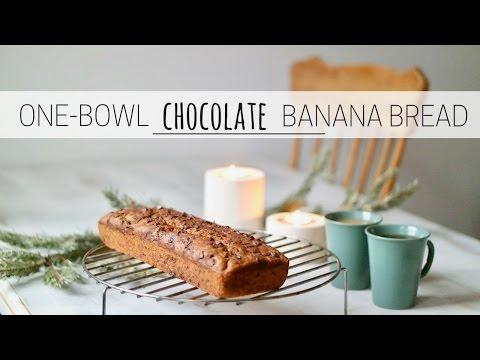 ONE-BOWL CHOCOLATE BANANA BREAD » easy + vegan
