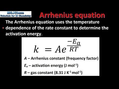 16.2 The Arrhenius equation (HL)