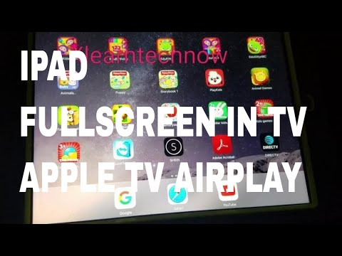 How to change iPad to fullscreen in tv with Apple tv AirPlay
