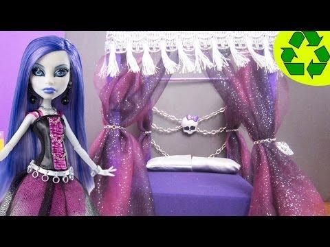 How to make a bed for Spectra Vondergeist - Monster High Crafts - simplekidscrafts