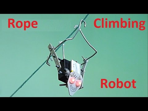 How to make a rope climbing robot