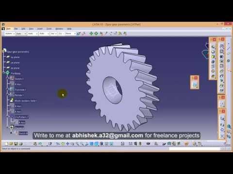 Catia V5 Tutorials/How to create Parametric helical gear_15 deg helix angle\parameteric formulae