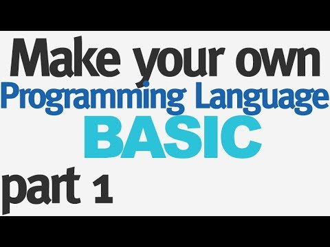 Make Your Own Programming Language - Part 1 - Lexer