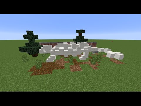 Tutorial: Minecraft Dinosaur Skeleton Model No.2