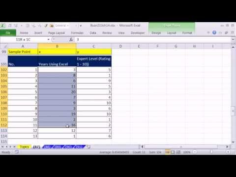 Excel 2010 Statistics 87: Linear Regression #1: Scatter Diagram: Relationship Between 2 Variables?