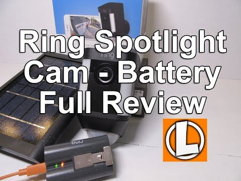 Ring Spotlight Cam Battery Review + Solar Panel  - Unboxing, Setup, Settings, Installation, Footage