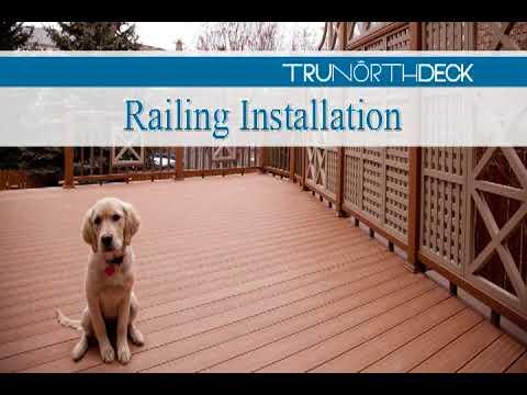 Composite Deck Building   Railings