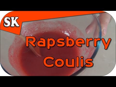 HOW TO MAKE A RASPBERRY COULIS - Ideal for Peach Melba Icecream