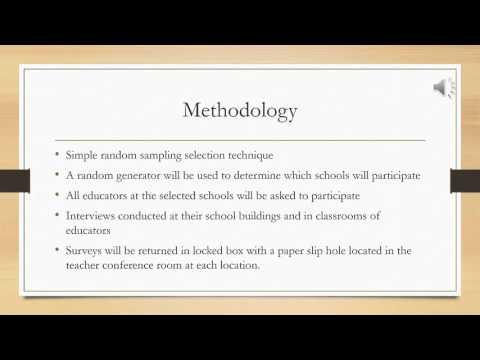 Research Proposal video presentation