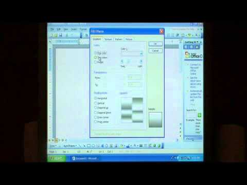 How to Add a Gradient Background to a Microsoft Word 2003 Document