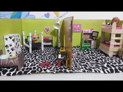 How to Make LPS Dollhouse Bedrooms: Doll DIY