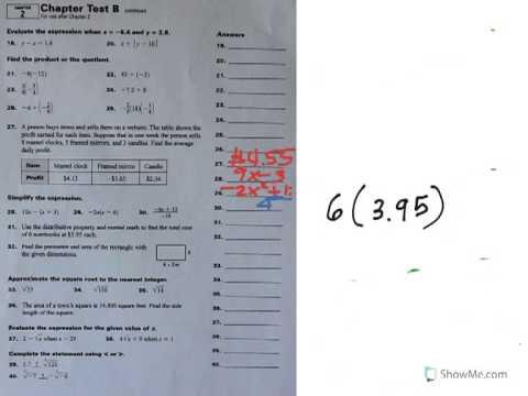 Chapter 2 Practice Test (part 3)