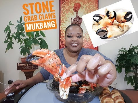 🦀 Stone Crab Claws and Mussels Mukbang 먹방 (eating show) ⚠️ slurping, smacking