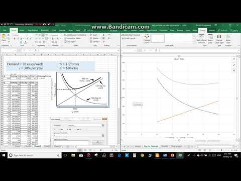 calculate by using equation and plot graph : excel 2018 part 1