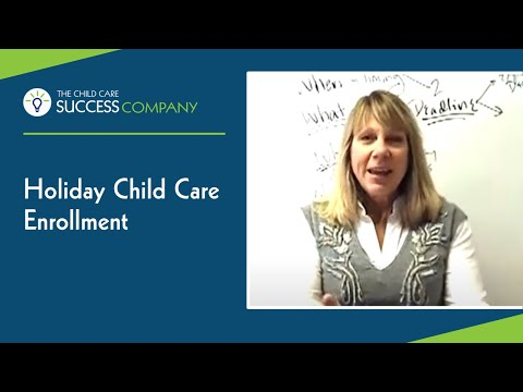 Holiday Child Care Enrollment