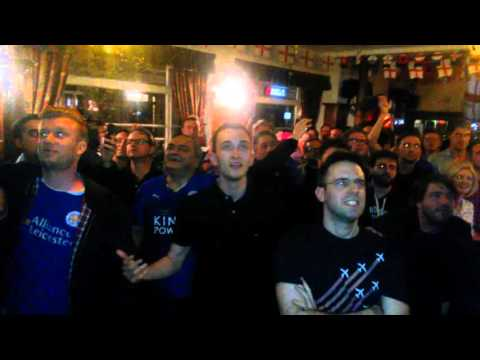 Leicester City FC win the Premier League, Stag's Head, London
