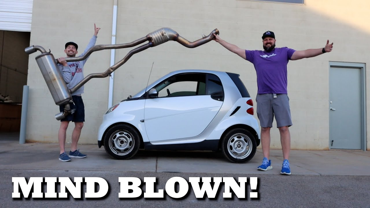 Straight Piping our SMART CAR