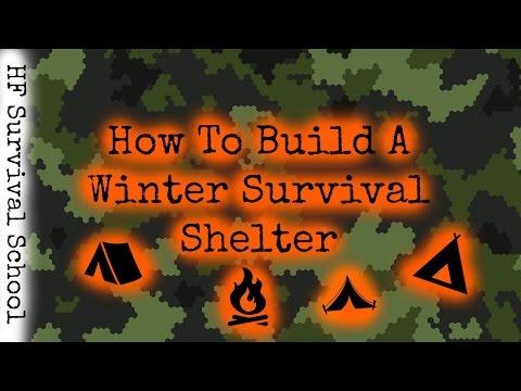 Winter Bushcraft Survival Shelter - Part 1