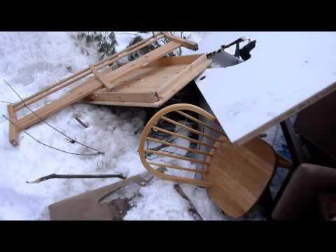 Trash pick wood haul