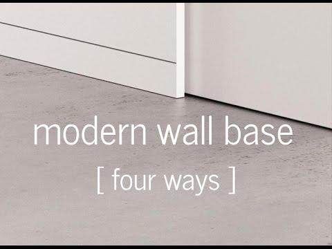 Modern Wall Baseboard - 4 ways