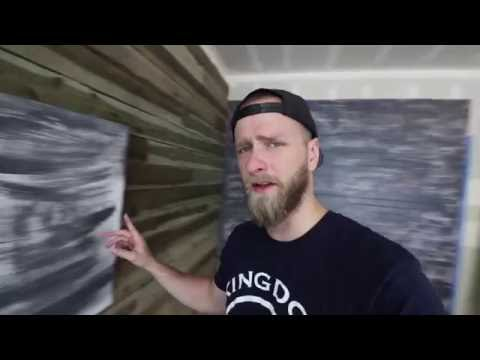 Building a Music Video Set in the Garage (Accent Wall on a Budget)