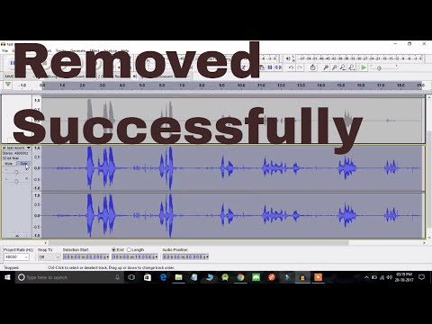 How to remove background noise from audio or video using audacity