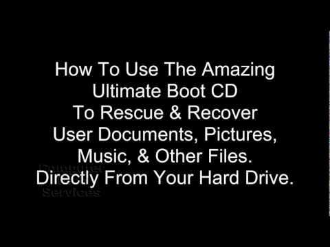 How to Recover User Files Even If The Computer Wont Boot From The Hard Drive