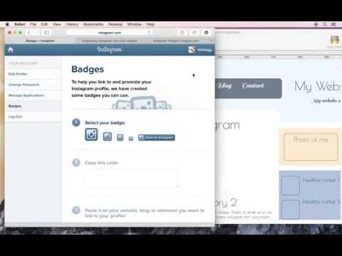 How to add a Instagram Badge button to your website using HTML Egg Pro for Mac